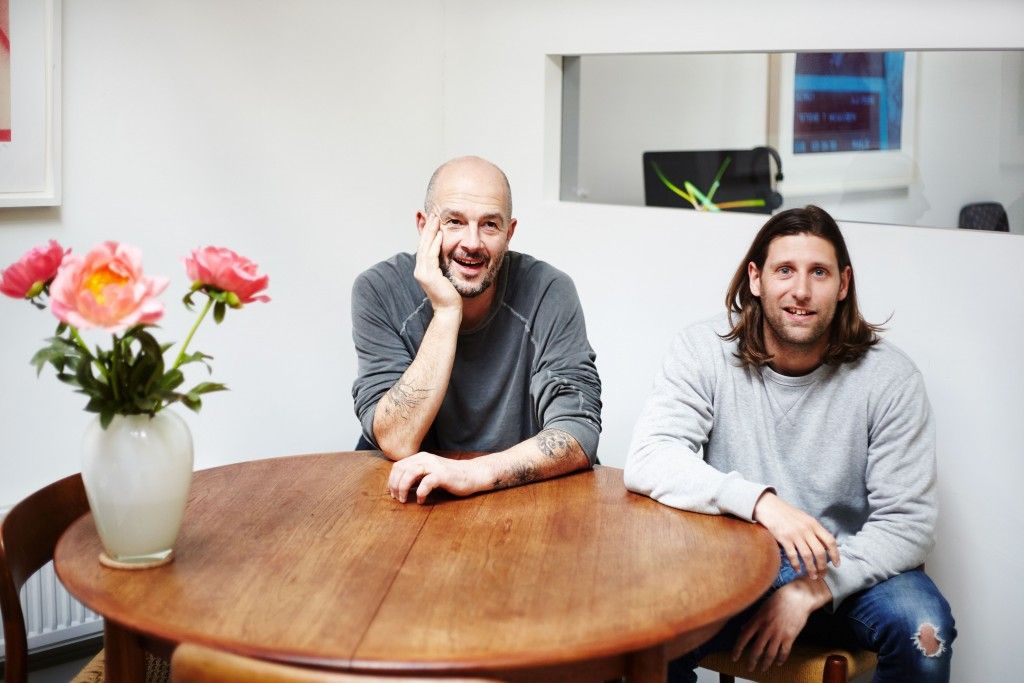 Jake Chapman and Robert McNally - Photograph by Lily Bertrand Webb, Courtesy of Flowers Gallery