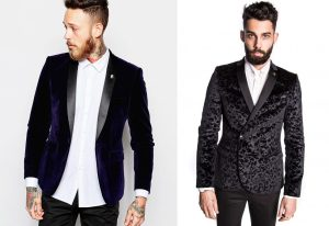 ASOS - Skinny Blazer in Velvet, £80 & Noose and Monkey - Carroway Velvet Skinny Jacket, £140