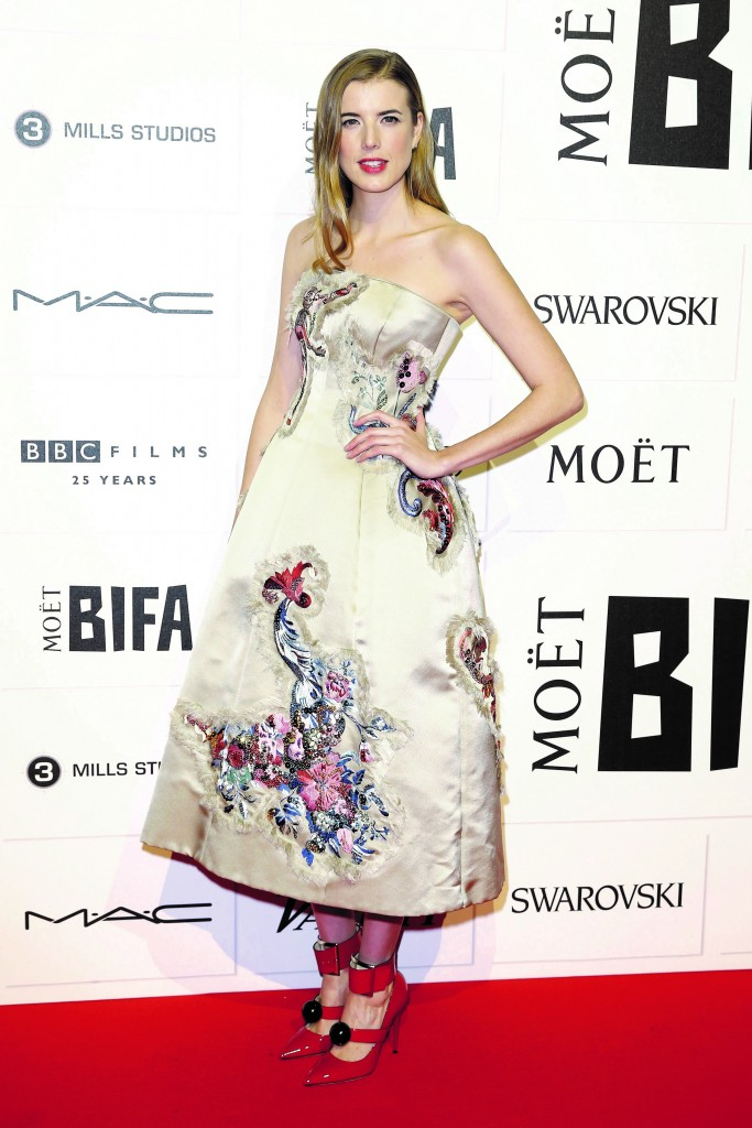 Agyness Deyn in Giles Deacon at Moët British Independent Film Awards