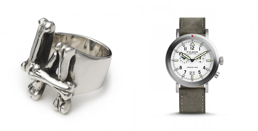 The Great Frog London - LA Bones Ring, £180 & Filson - Scout Watch, £560
