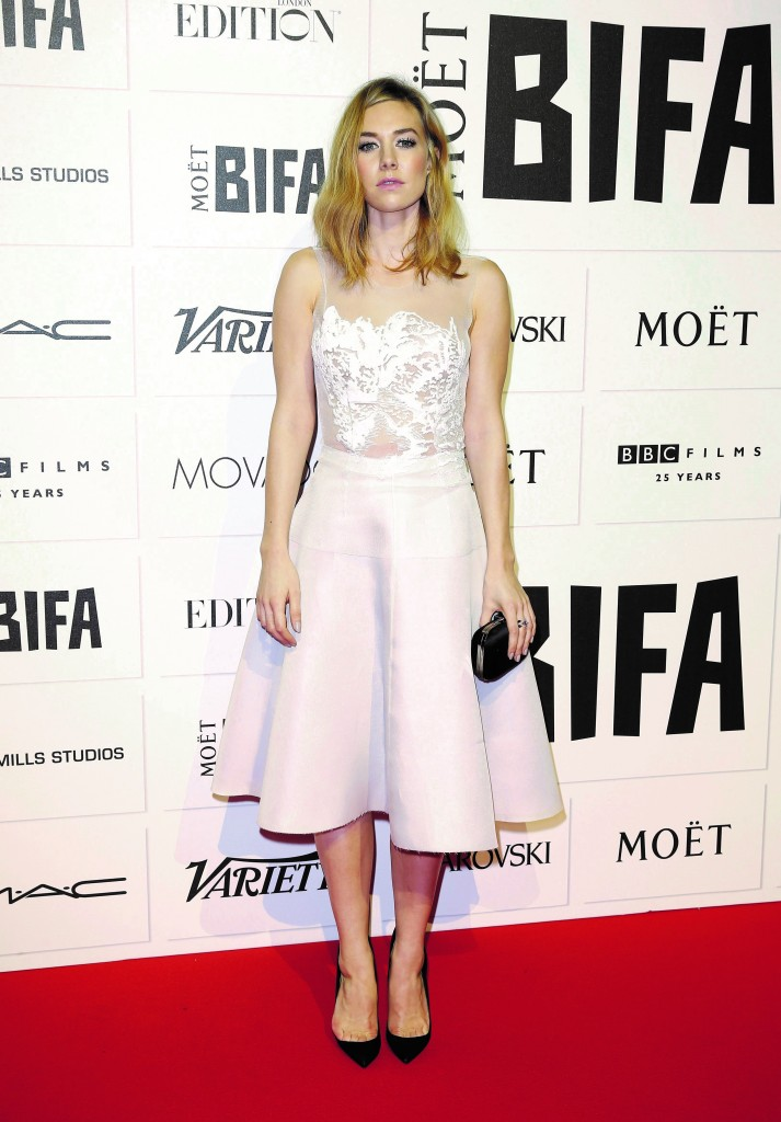 Vanessa Kirby in Emilio de la Morena at Moët British Independent Film Awards