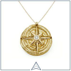 Compass Amulet, Annaloucah Fine Jewellery, £465